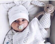 Брендовая детская шапочка для новорожденных, детская шапочка с глазами для девочек, шапочка для мальчиков, хлопковая шапочка, шапочка для м...