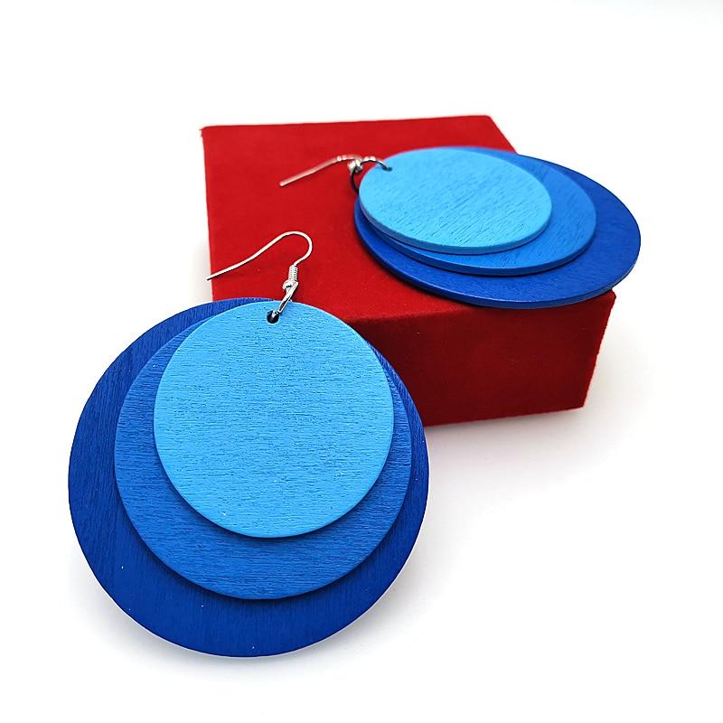 YD&YDBZ Fashion Wood Earrings For Women 2019 Vintage Drop Earrings A Pair 6 Styles Geometric Round Earring Jewelry Wholesale