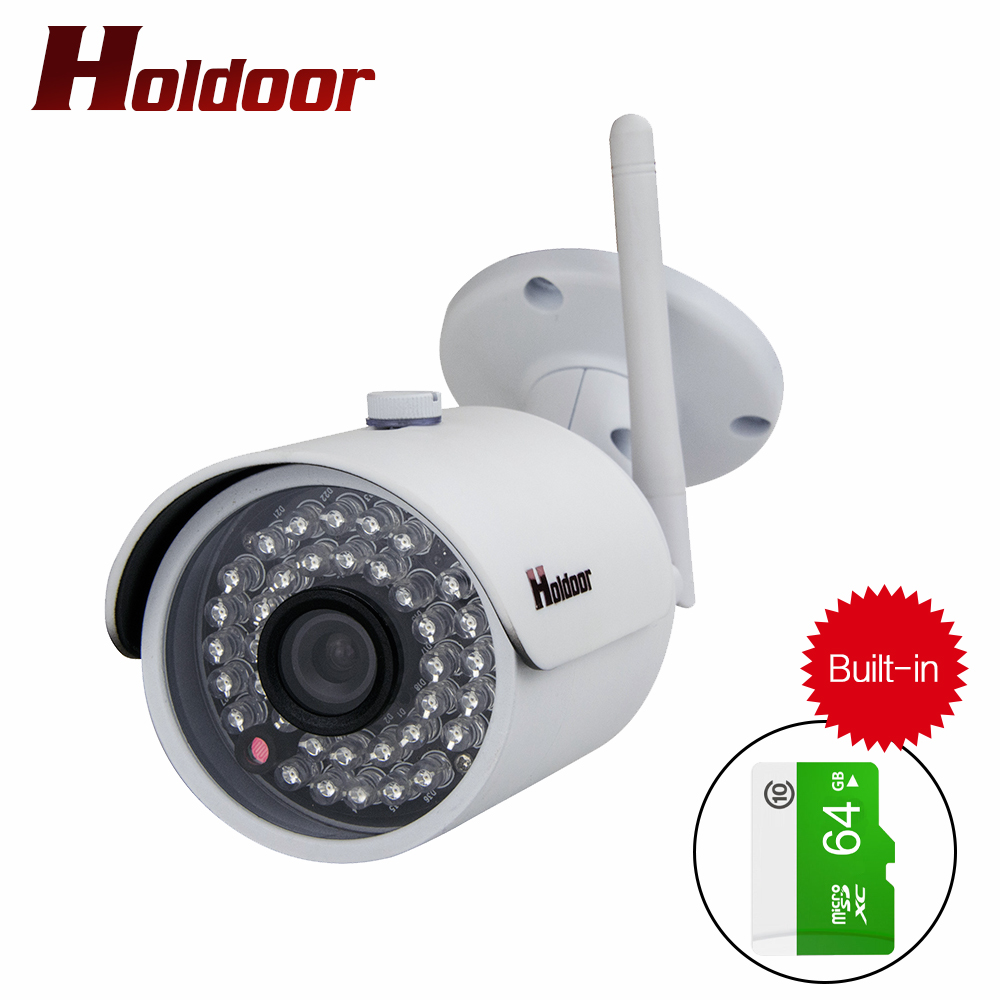 Waterproof Outdoor wireless ip camera Built in 64GB Memory card 1080P WIFI IP Camera HD Network 2.0MP wifi camera nignt vision 720p wifi ip camera waterproof hd network 2mp lens wifi camera day nignt vision in outdoor ip camera with free power adapter
