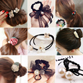 korean fashion women girls elastic hair rubber bands ties <font><b>headwear</b></font> ring rope accessories for women scrunchie ornaments wholesale