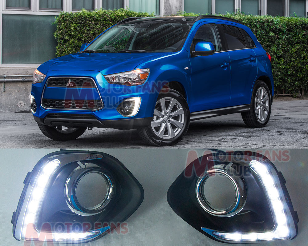 ФОТО LED Daytime Running Light For Mitsubishi ASX Outlander Sport Fog Lamp DRL 13 14 for  free shipping