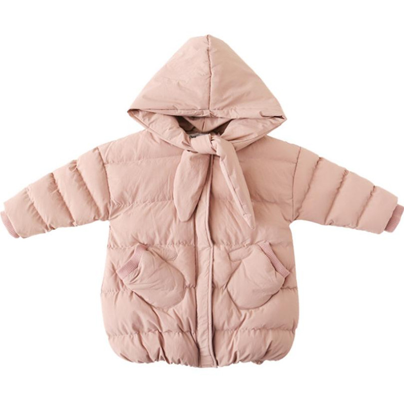 DFXD Winter Baby Girl Pink Long Parka Coats Fashion Thick Hooded Zipper Down Warm Outwear Children Clothing 2-8YearsDFXD Winter Baby Girl Pink Long Parka Coats Fashion Thick Hooded Zipper Down Warm Outwear Children Clothing 2-8Years