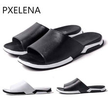b8d74c0e13c669 PXELENA Beach Slippers Couple Lovers 2018 Summer Hot Unisex Sandals Fashion  Outdoor Walking Slippers Mens Non-Slip Flip Flops