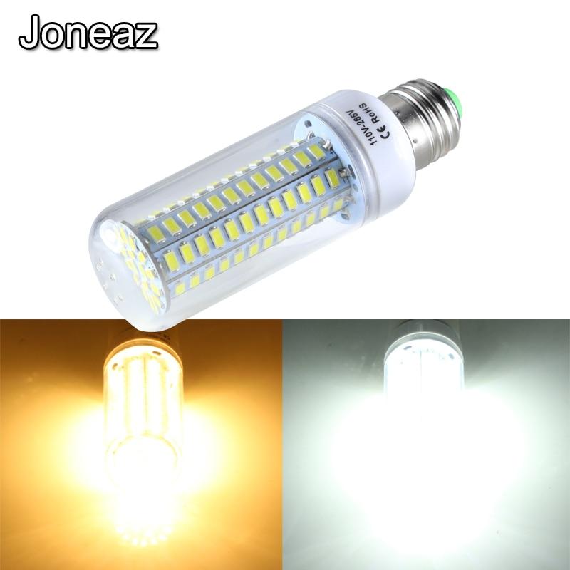 Joneaz 1x ampoule led e 27 110v 220v bulbs light 12W corn bulb lamp for home lighting 5730 smd 114leds energy saving lamps 3000K