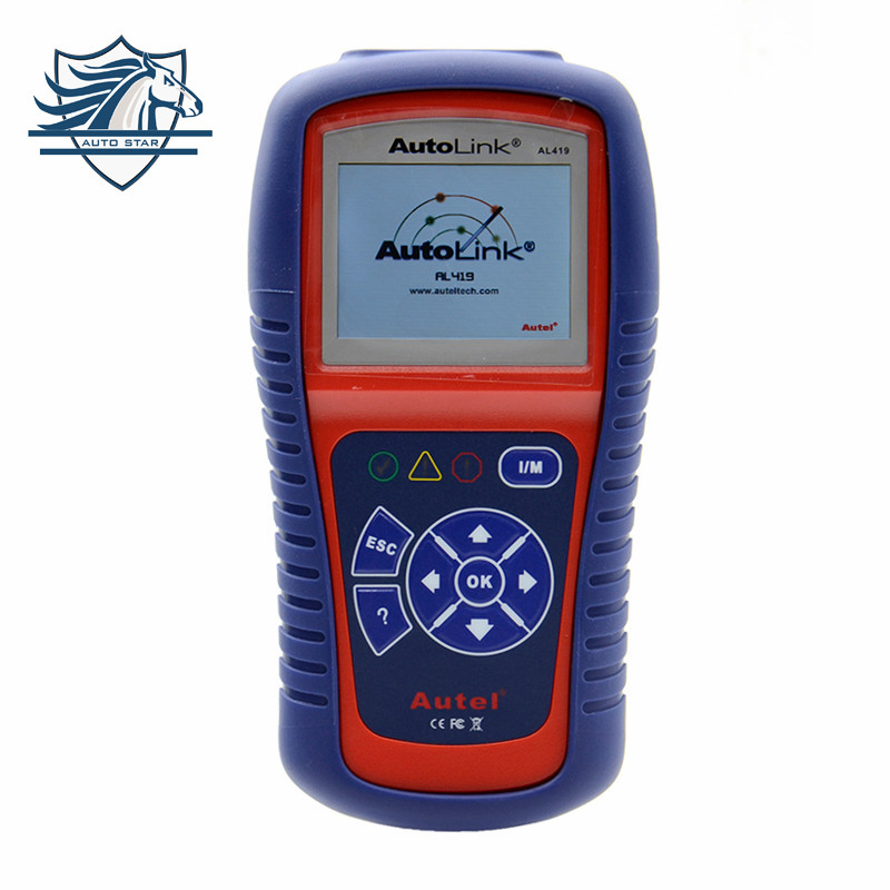 Car Diagnostic Scan Tool Autel AutoLink AL419 OBD II & CAN Code Reader AL-419 Free Online Update with Troubleshooter code tips  free shipping original autel autolink al519 obd ii and can scanner tool obd2 code scanner