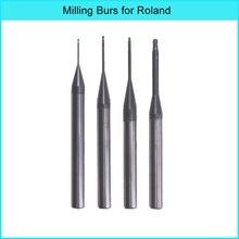 3 Pieces Roland milling burs  with DLC/DC coating for milling dental zirconia block 142 holes dental burs bur block holder holds holder station pull out drawer set lnb