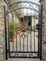 automatic fence gate old iron gates pool gate