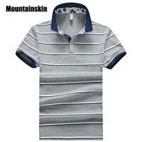 Mountainskin 2017クラシックメンズポロシャツ3xl夏ストライプメンズポロスリムフィット薄いcamisasポロ男