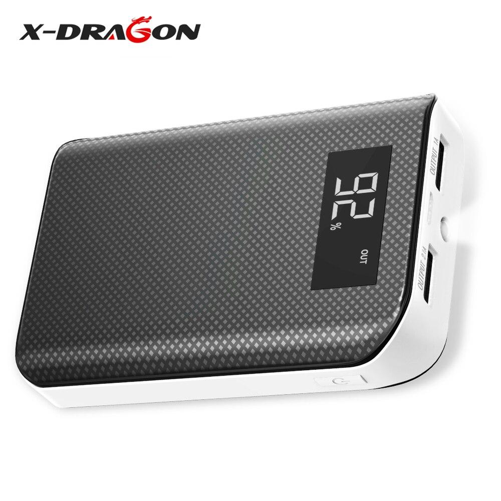 X-DRAGON 6000 mah Power Bank mit LCD Display Externe Batterie für iPhone xiaomi Handy