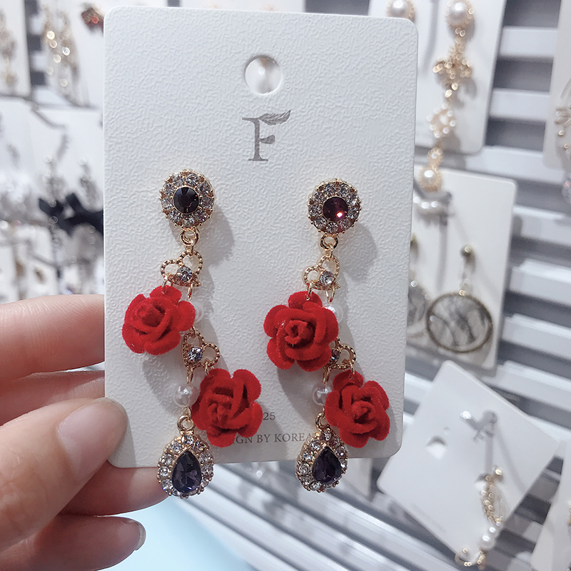 HTB1agTfNAvoK1RjSZFNq6AxMVXaR - 2019 New Hot Sale 20 Style Red Fashion Korean Elegant Geometric Dangle Earrings for Women Cute Pendant Mujer Jewelry