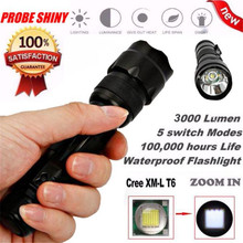 Cycling Bike Head Front Light Bicycle Light Zoomable XM L T6 LED 5 Modes Tactical Flashlight