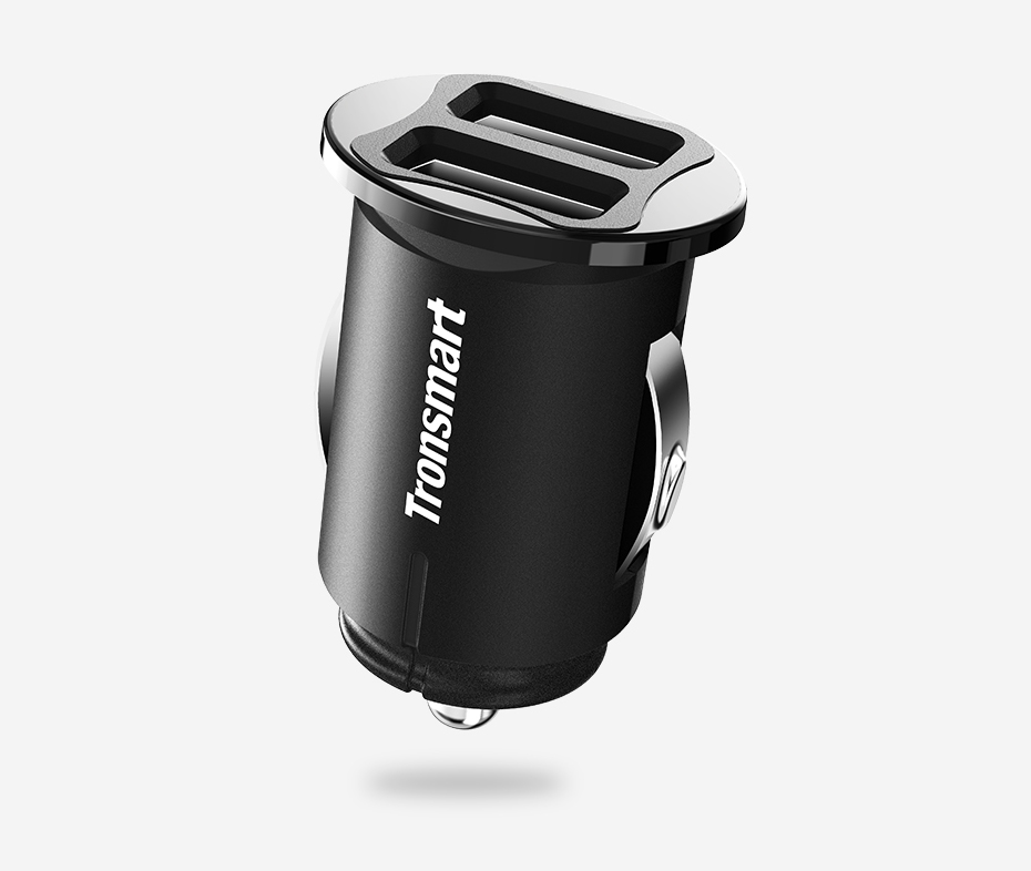 Tronsmart C24 Two Ports USB Car Charger VoltiQ Car-charger Phone Fast Charger USB Adapter Short Circuit Protection CE FCC RoHS (1)