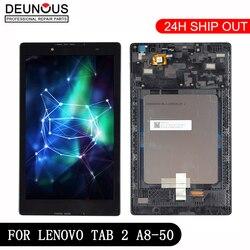 Novo 8 inch inch polegadas para lenovo tab 2 A8-50F tab2 A8-50LC A8-50 tablet pc touch screen + display lcd peças de montagem com quadro