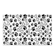 Funny Dog Paw Prints Footprints Luxury Microfiber Washable B