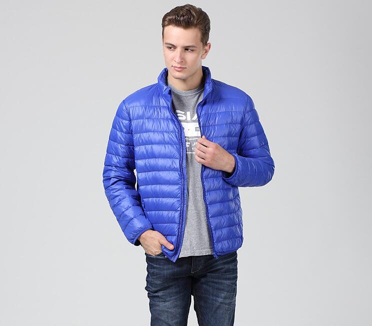 Winter Duck down jacket men 90% Down Content thin ultra light down jacket winter long sleeve solid winter coats pocket fashion