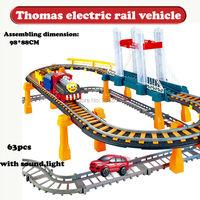 トーマス電車レール車のおもちゃトーマスと友人トラックスパイラルトラックジェットコースター電気鉄道車両でサウンドfashingライ