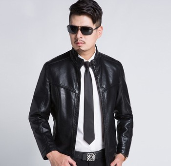 Hot 2020 New Winter Men's leather jacket Men Fashion Motorcycle Leather jackets Coats male Stand Collar Business Outwears M-3XL