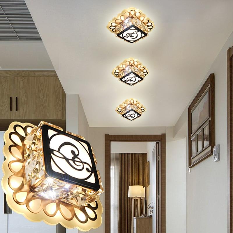 LAIMAIK Crystal LED Ceiling Lights 8W AC90-260V Modern Ceiling LED Light Embeded Instal Crystal LED Lighting For Living Room