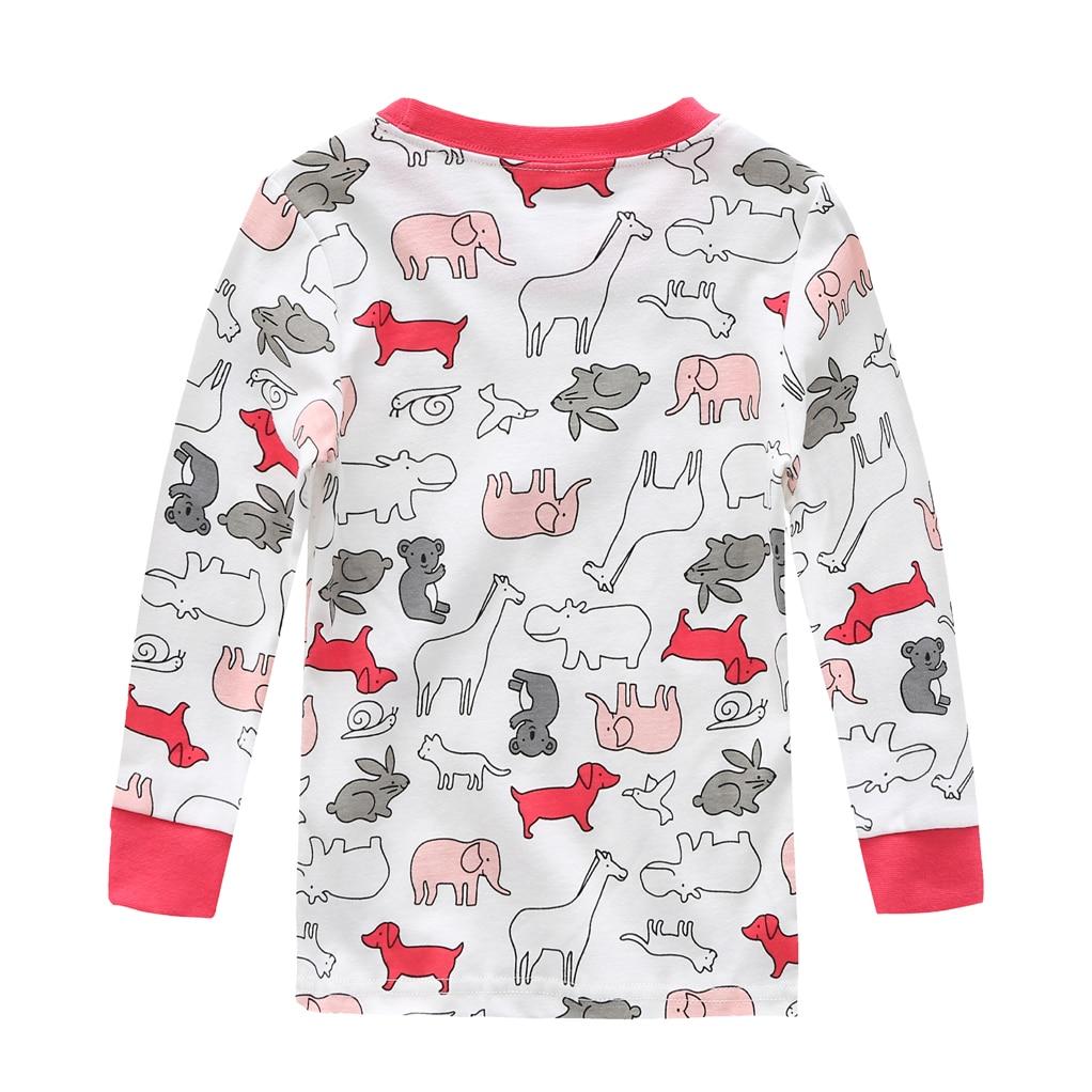100% cotton Baby boys pajamas girls cartoon sleepwear animal kids pyjamas sets baby cotton nightwear long sleeves tops+pant sets 3