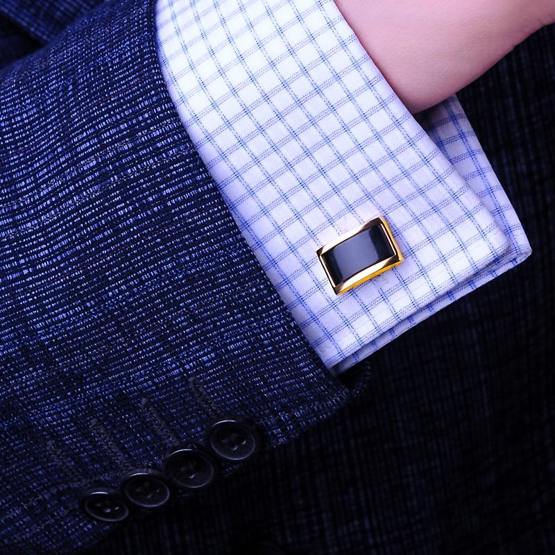 KFLK skjorta manschettknappar för män Märke Guldfärgskedja Mode - Märkessmycken - Foto 5