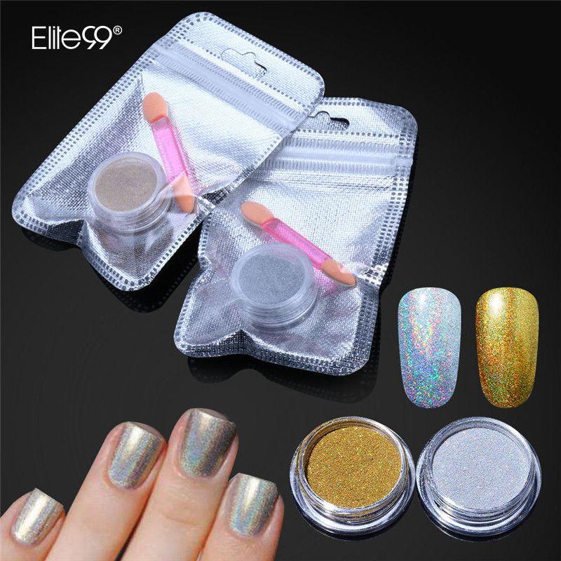 Extra Fine Holographic Chrome Nail Art Powder: Aliexpress.com : Buy Magic Mirror Nail Art Chrome Powder