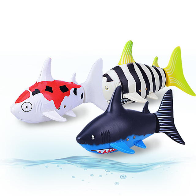 Create Toys 3310B 3CH 4 Way RC Shark Fish Boat 27/40Mhz Mini Radio Remote Control Electronic Toy Kids Children Birthday Gift