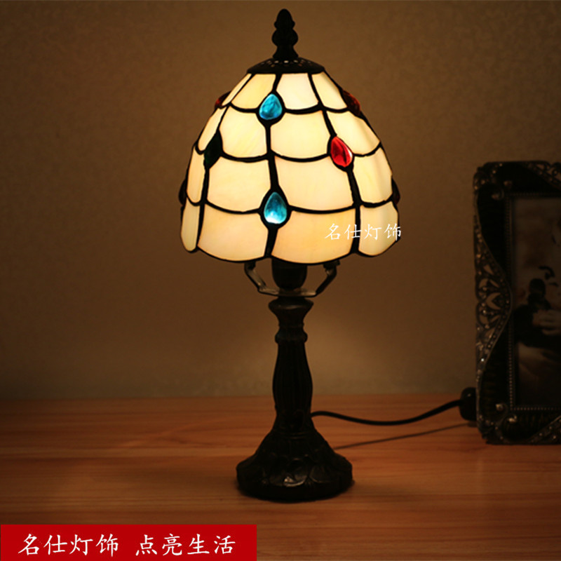 Turkish Mosaic Lamps E27 Base Handmade Glass Lampsahde Bedroom Bedside Vintage Table Lamp Light Fixtures