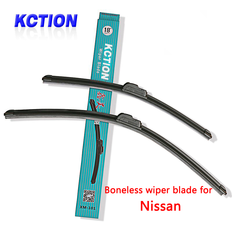 Car Windshield Wiper Blade For Nissan Tiida X-Trail Qashqai Murano Note Juke Pathfinder Leaf Primera Micra Navara Almera Cube
