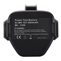 NEW 12 VOLT Ni MH Battery For MAKITA 3.0 Ah 1233 1234 Black&Gray