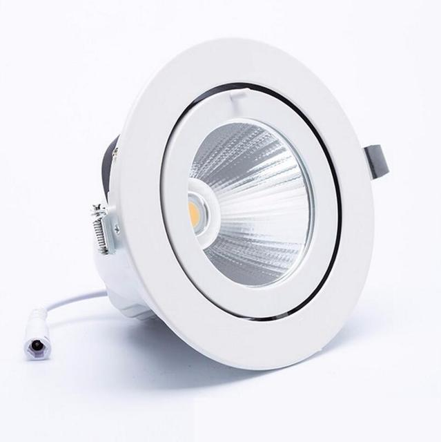 8pcslot super bright led downlight light cob ceiling spot light 25w ceiling recessed lights