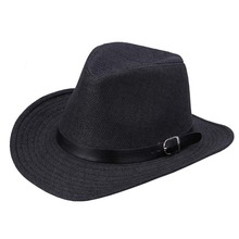 Summer Men Hat Straw Cowboy Fashion Western COW BOY Cavalry Hatband HOT