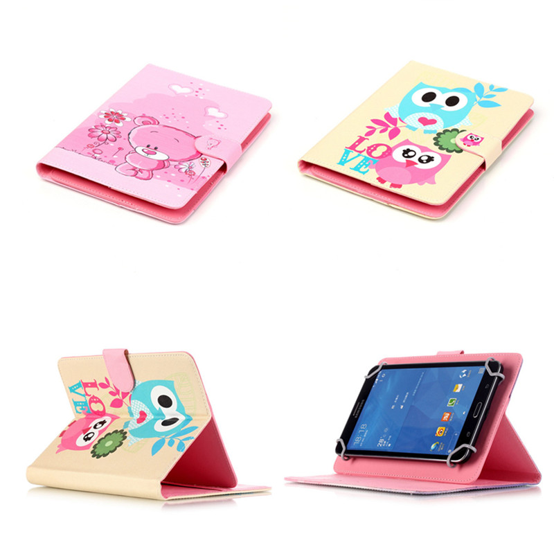 YH  8 inch Universal PU Leather Print Cute Cartoon Stand Protector Cover Case Skin For 8.0'' Teclast sony lenovo asus tablet PC mediapad m3 lite 8 0 skin ultra slim cartoon stand pu leather case cover for huawei mediapad m3 lite 8 0 cpn w09 cpn al00 8