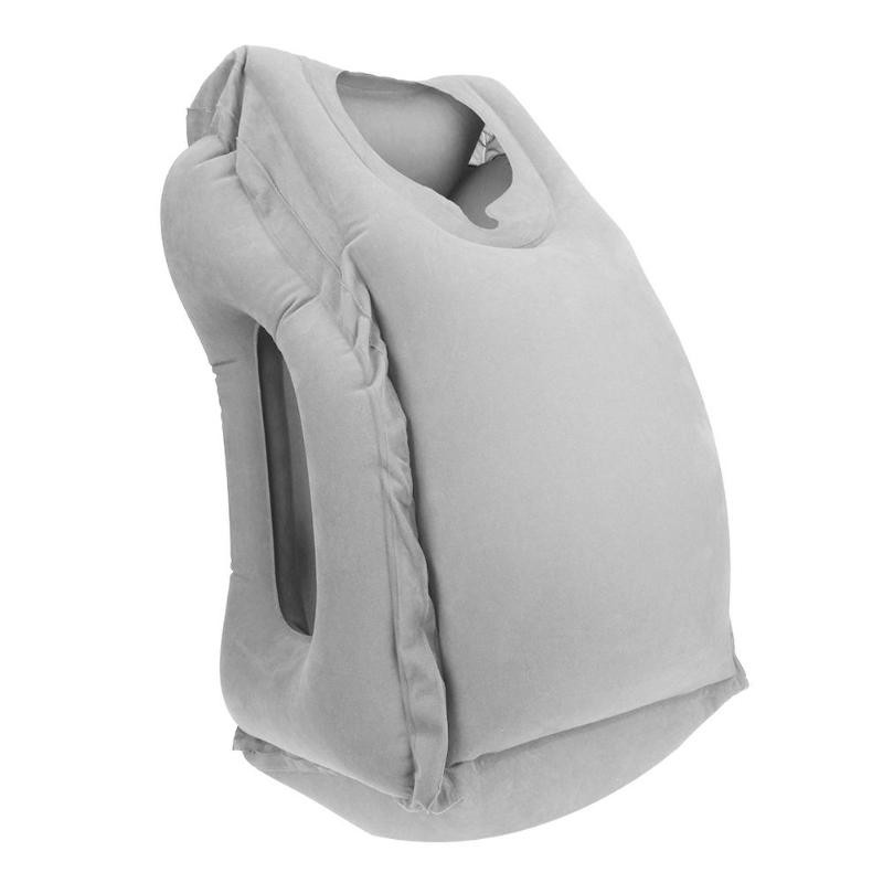 HTB1agVuKh1YBuNjy1zcq6zNcXXaT Inflatable Travel Office Pillow Air Soft Cushion Trip Portable Innovative Body Back Support Foldable Blow Neck Protect Pillow
