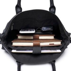 Image 4 - KUDIAN BEAR maletín sencillo de cuero para hombre, famosa marca, negocios, portátil, de hombro, BIG001, PM49