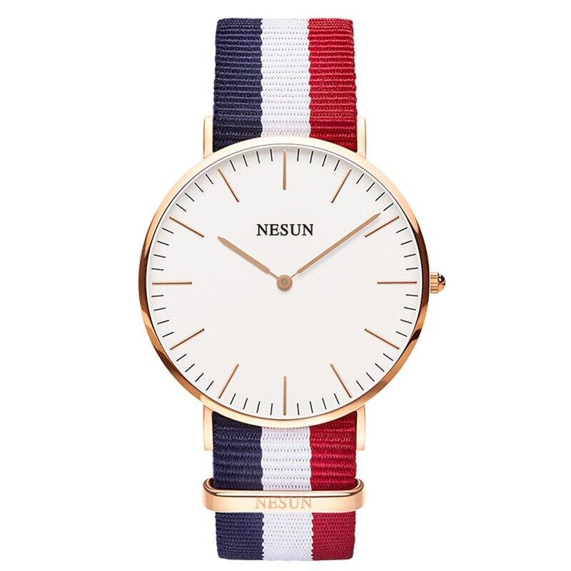 Switzerland Nesun Watch Men Luxury Brand Japan MIYOTA Quartz Movement Men's Watches Genuine Leather Waterproof Clock N8801-LM5