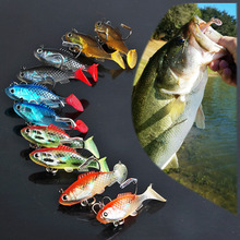 Sougayilang 30pcs/lot Winter Fishing Jig 5.5cm 8g Fake Silicone Soft Fish 5 Colors Artificial Ice Fishing Baits with Hook