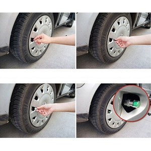 Image 5 - 4 pçs sensor de pressão dos pneus do carro 2.2 2.4 2.5 barra válvula tampa da haste alarme pressão dos pneus ar alerta kit ferramentas monitoramento pressão dos pneus