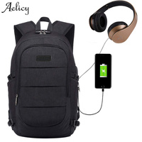Aelicy 3 Colors Anti Theft Laptop Backpack External USB Charge Computer Backpacks High Quality School Bags