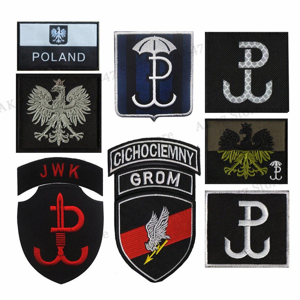 Embroidery POLIZEI POLICE Punisher Germany Deutschland Eagle German Flag  Morale Patch Tactical Appliques Emblem Badge
