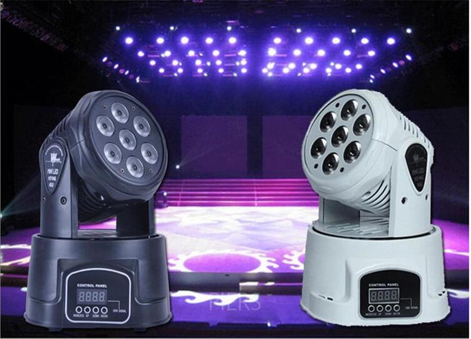 moving head light 7x12w rgbw 4in1 leds advanced DMX 9/14 channels dj band lights