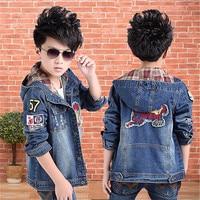 Boys Denim Jacket Hooded Casual Jeans Wear Cowboy Clothes Roupas Infantis Baby Jackets Windbreaker Casaco Ropa Nino Kids Jacket