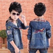 Boys Denim Jacket Hooded Casual Jeans Wear Cowboy Clothes Roupas Infantis