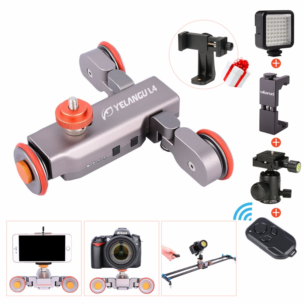 Ulanzi  Flexible Motorized Wireless Remote Electric Dolly Car 3-Wheel Pulley Autodolly Pro for  DSLR Camcorder Smartphone