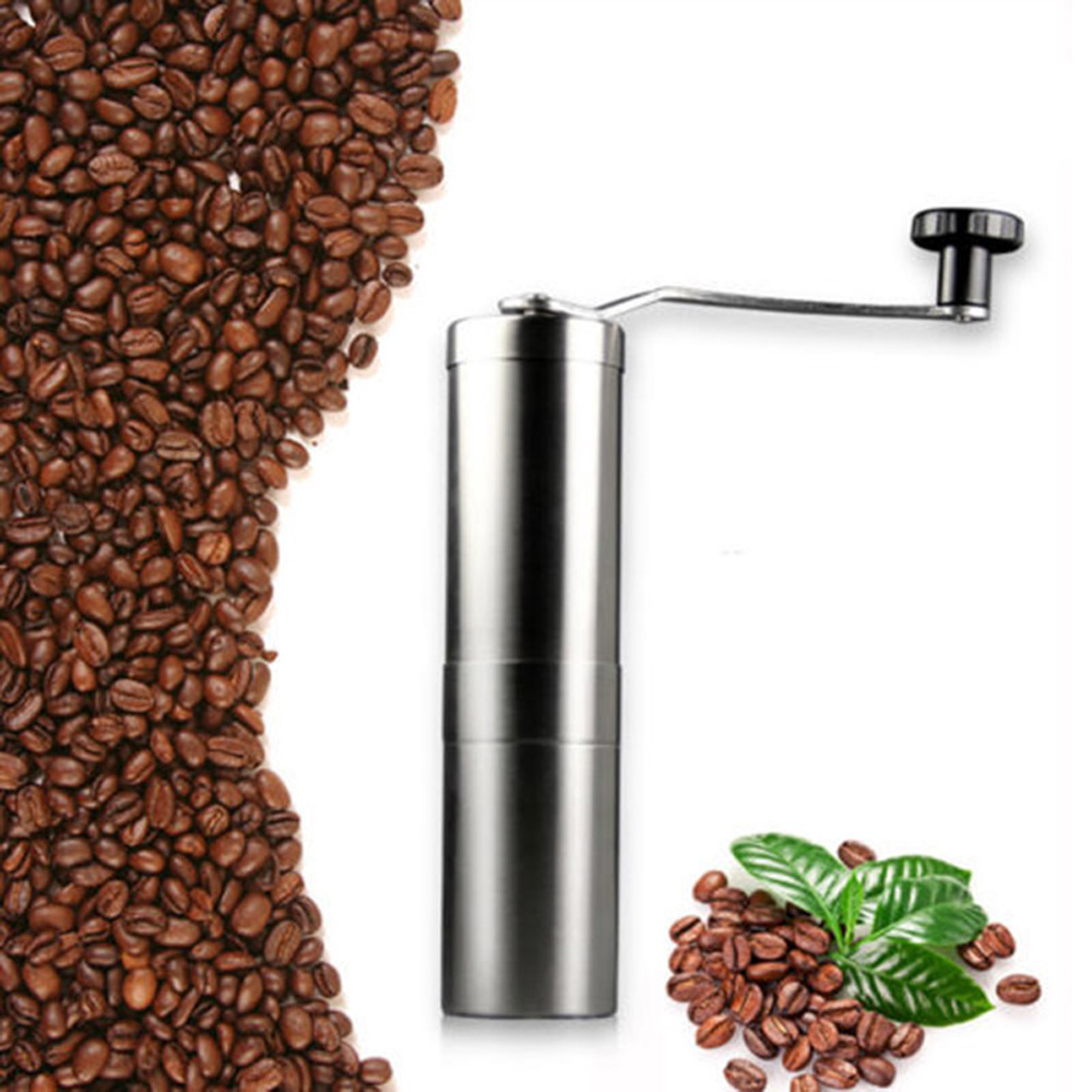 Black/White Pepper Wear Resistance Hand Shake Coffee Grinder Manual Stainless Steel 4.8*19cm Accessories