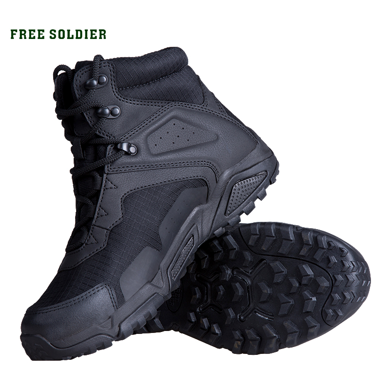 FREE SOLDIER outdoor sports hiking tactical military men boots ankle boots non slip combat shoes for