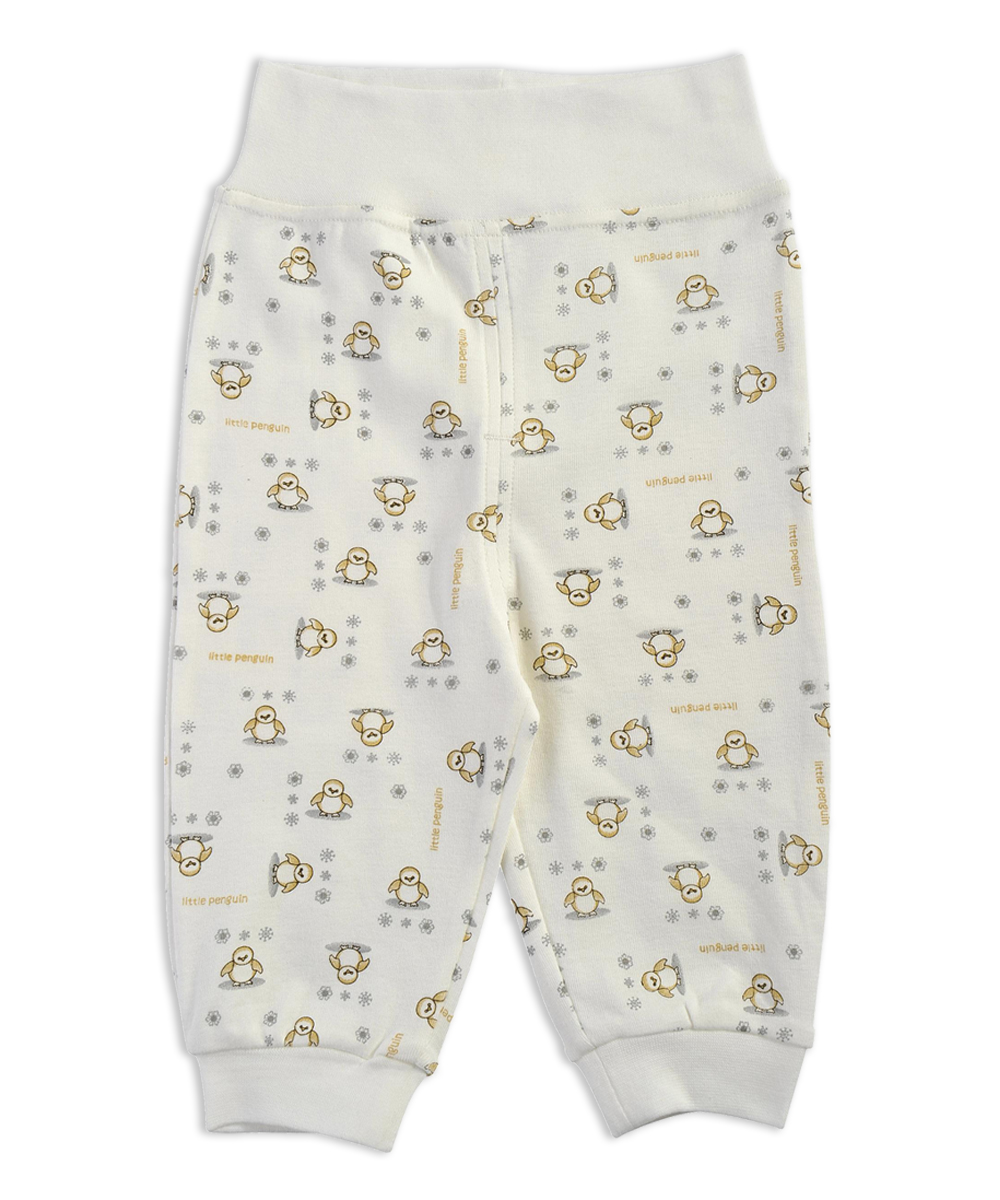 0-12 Months Baby Pant Trousers High-Waisted Pant Newborn Infant Baby Bottom Wear in 100% Cotton