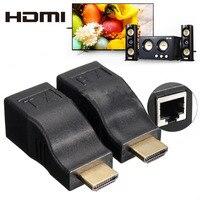 2016 Yüksek Kalite mini 4 k 1080 P HD 3D HDMI Extender Fazla Tek RJ45 Cat 5e/6 Ağ Ethernet Adaptörü PC için