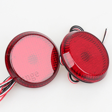 Car LED Tail Rear Bumper Reflector Lights lamps Round Brake Stop Light for Nissan/Qashqai/Trail/for Toyota/Corolla цена