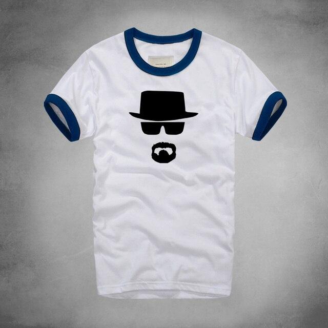 Con De Hombre O Hot Bad Para Verano Camisetas Camiseta Men Heisenberg Fitness Algodón Barba Breaking Cuello wvn80mN