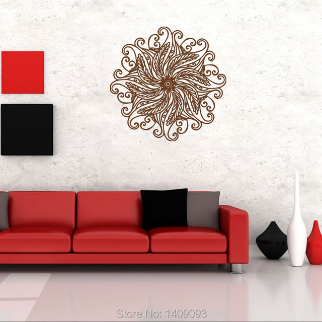 Classic Wall Sticker Indian Style Buddhism Wall Art Decoration